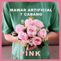 ARTIFICIAL ROSE BUKET BUNGA MAWAR PALSU DEKORASI PREMIUM FLOWER PINK