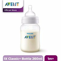 Philips Avent Bottle Classic Plus 1M+ Shrink Botol Susu Bayi 260ml