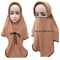Jilbab Instan Anak Masker Hijab Niqob Cadar 3in1 KCB