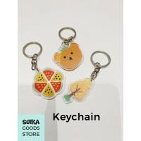 Keychain Gantungan Kunci Lucu - Untuk Gantungan Masker Pouch - Bear