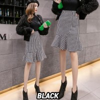 (#9806 XL/XXL/XXXL)LeeHanui Skirt/Rok Midi/Rok Kerja