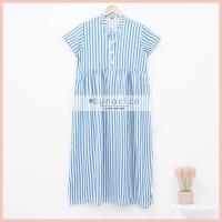 Lunaci Vertical Blue Maxi Dress