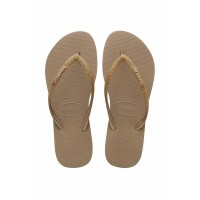 Sandal Wanita Havaianas Slim Glitter Fc 3581-Rose Gold - 33-34