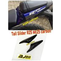 Cover body belakang carbon r25 mt25 tail slider kevlar cover fairing