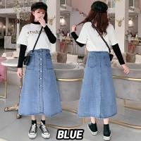 (#6199)Kyoko Denim Skirt/Rok denim/Rok Jeans