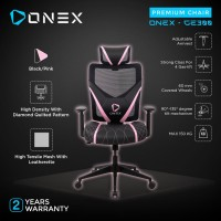 ONEX GE300 Premium Quality Mesh Gaming Chair - Pink