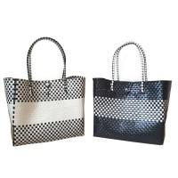 Kiarra Bag Kecil - Tas Anyam Plastik, Tas Belanja , Handbag - Hitam
