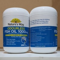 Natures Way Odourless Fish Oil 1000 Mg Omega 3 200 Caps Import Ausie