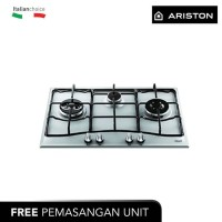 ARISTON Kompor Gas Tanam 75 Cm PC730RTX, 3 Pembakar Gas (Grade B)
