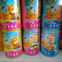 Makanan Kucing Kaleng Super Cat Kitten Formula 450Gr