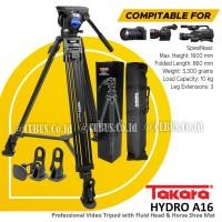 Tripod TAKARA HYDRO A16 Tripod Profesional Fluid Head Video Maker