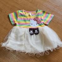 Pakaian Baju Dress Hello Kitty untuk anak perempuan
