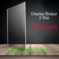 TEMPAT BROSUR / TENT HOLDER / TENT CARD AKRILIK DISPLAY 2 SISI A5