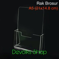 RAK / TEMPAT BROSUR / TEMPAT DISPLAY BROSUR AKRILIK DISPLAY UKURAN A5