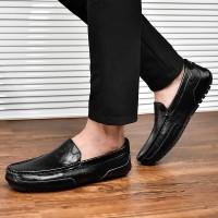 Sepatu Pria Kantor Casual Fashion Loafers Kerja Kulit Asli Buatan