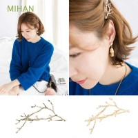 2PCS Dress Women Flower Girls Hair Clip Metal Jewelry Branch Leaves