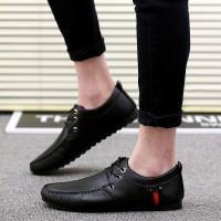 Sepatu Pria Kerja Kantor Casual Fashion Hitam Loafers Kulit Asli