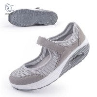 Jalan/Fitness/Perawat Sepatu Sneakers Wedges Wanita Bahan Breathable