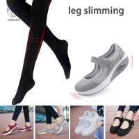 Sepatu Sneakers Wedges Wanita Bahan Breathable Anti Slip Nyaman