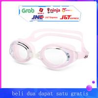 Kacamata renang dewasa anti kabut dan kacamata renang UV - Merah Muda