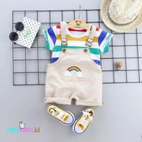 Overall Bayi dan Anak Laki-Laki Import Motif Pelangi