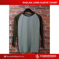 Kaos Raglan Long Sleeve T-shirt - OBRAL MURAH CUCI GUDANG !!!
