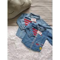 Baju Kemeja Jeans Anak Bayi Laki-laki Usia 1-3 Tahun [1TO3 - AE.570]