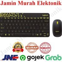 Logitech Mk240 Mouse Keyboard Wireless Combo For Desktop Pc - Hitam