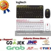 Logitech Mk240 Nano Wireless Combo Keyboard Mouse Garansi 1 Tahun - Pu