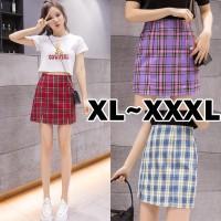 (#8201 XL/XXL/XXXL)Rose A Line Skirt/High Waist Mini Skirt A Line