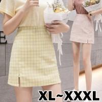 (#8202 XL/XXL/XXXL)Bomi A Line Skirt/High Waist Mini Skirt A Line/Rok