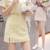 (8202)Bomi A Line Skirt/High Waist Mini Skirt dengan Potongan A-Line