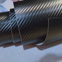 Stiker Skotlet karbon 3D Profix warna hitam