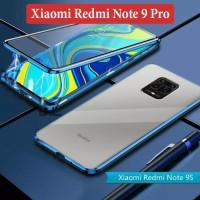 Xiaomi Redmi Note 9 Pro Flip Magnetic Glass Depan Belakang Case Casing
