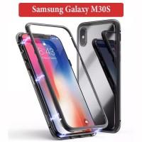 Samsung Galaxy M30S Flip Magnetic Glass Depan Belakang Case Casing