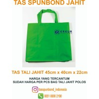 ( Tas Tali JAHIT 45 x 40 x 22 cm ) Tas Kain Spunbond / Goodie Bag