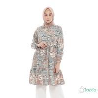 Atasan Muslim Wanita | Kirana Tunik Cream | S M L XL | Monalisa