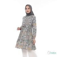 Atasan Muslim Wanita | Kirana Tunik Abu| S M L XL | Monalisa