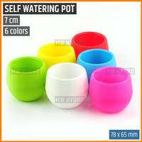 Mini Self Watering Pot, Pot Bulat / Bola, 7 cm