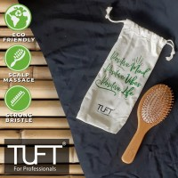 TUFT Bamboo Friendly Hair Brush Oval (Sisir Rambut)