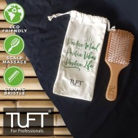 TUFT Bamboo Friendly Hair Brush Square (Sisir Rambut)