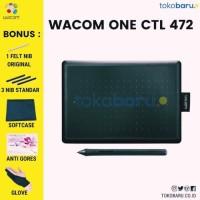 Wacom One small CTL-472 pen tablet wacom ekonomis garansi resmi - Unit Only