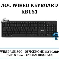 AOC Office Keyboad Wired KB161 / KB-161 - Original Product