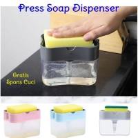 Dispenser Sabun Untuk Dapur Soap Pump Holder Spons Sponge Cuci Kotak
