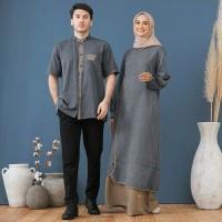 Sarimbit Nibras 71 Biru Baju Couple Seragam Keluarga Muslim Simpel Ori