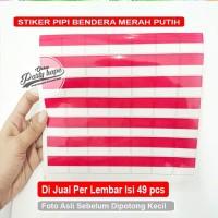 Stiker Pipi Merah Putih polos / Stiker Bendera HUT RI polos isi 49 pcs