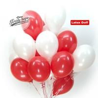 Balon Doff merah Putih / Balon Doff Balon karet polos dekorasi HUT RI