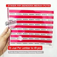Stiker pipi merah putih tulisan Indonesia / stiker pipi bendera isi 49
