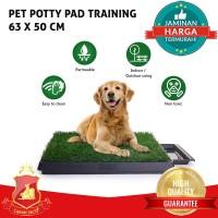 Pet Potty Pad Training Toilet Pad Dog Tray Grass Rumput Anjing Hewan