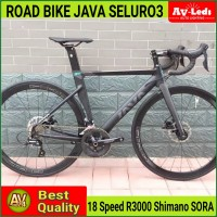ROAD BIKE JAVA SILURO 3 SHIMANO SORA R3000 18 SPEED DISC BRAKE